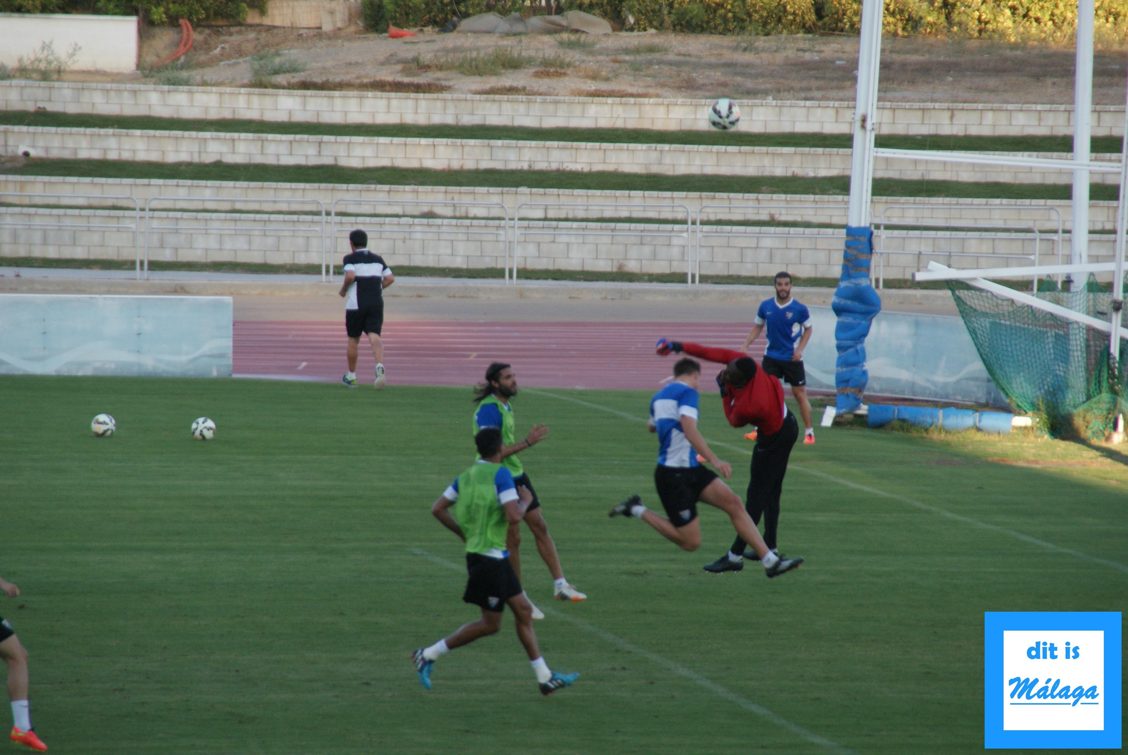 training malaga cf